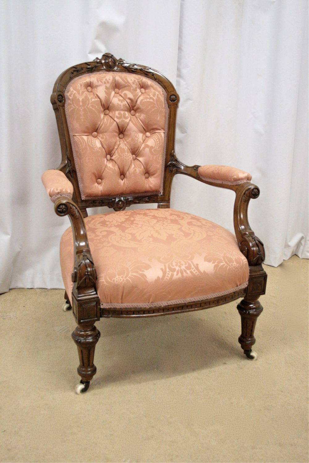 Antique victorian armchair - Victorian Walnut Armchair Antique