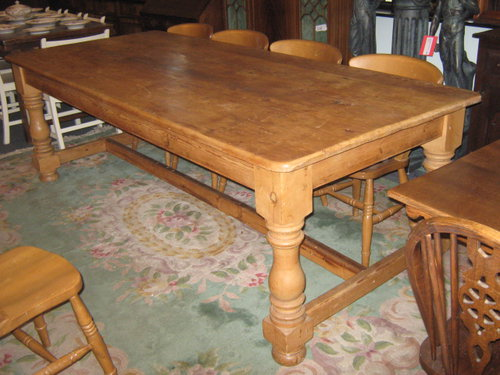 A Large Pine Dining Table Antiques Atlas