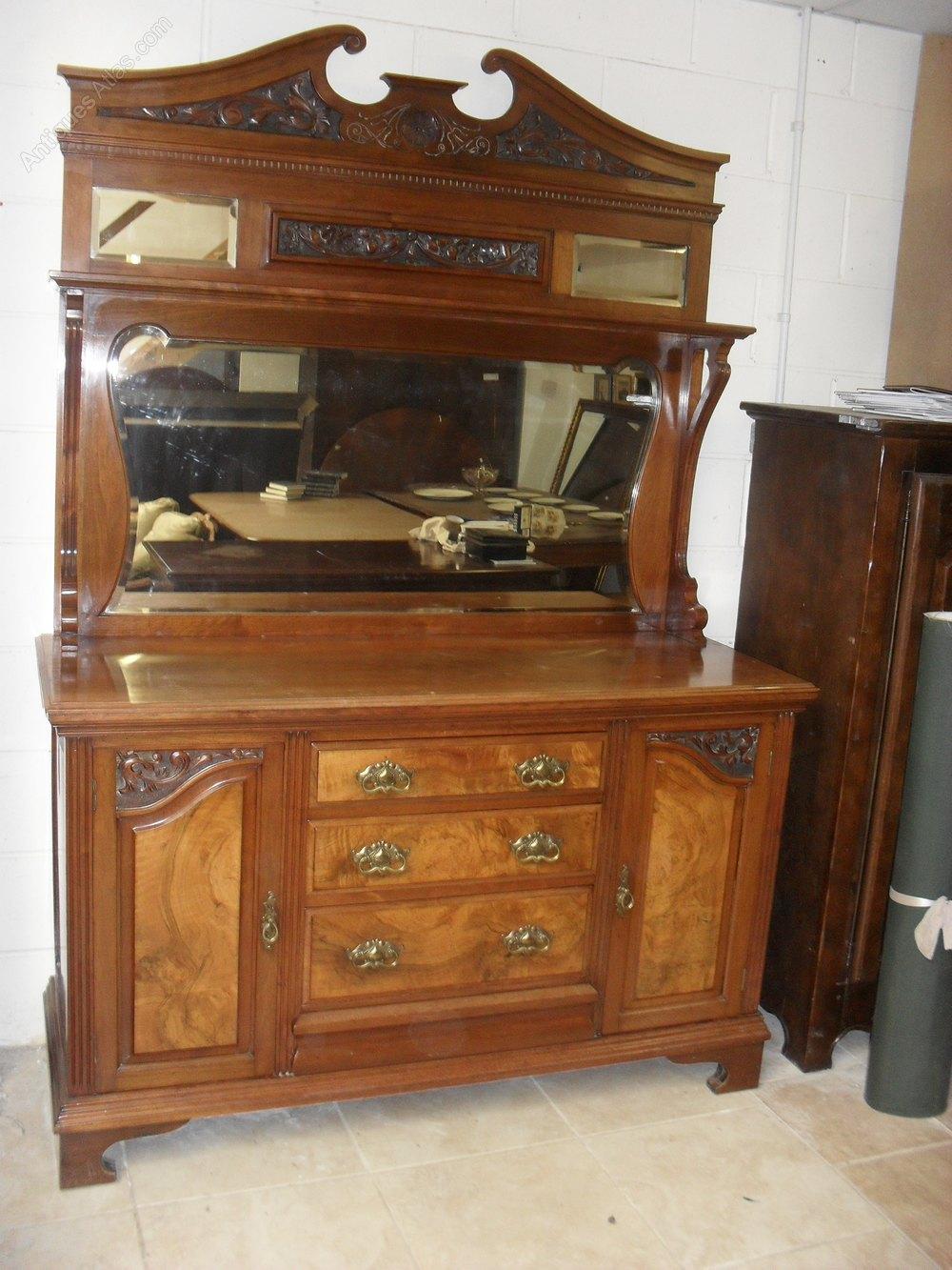 Victorian Walnut Mirror Back Sideboard Antiques Atlas