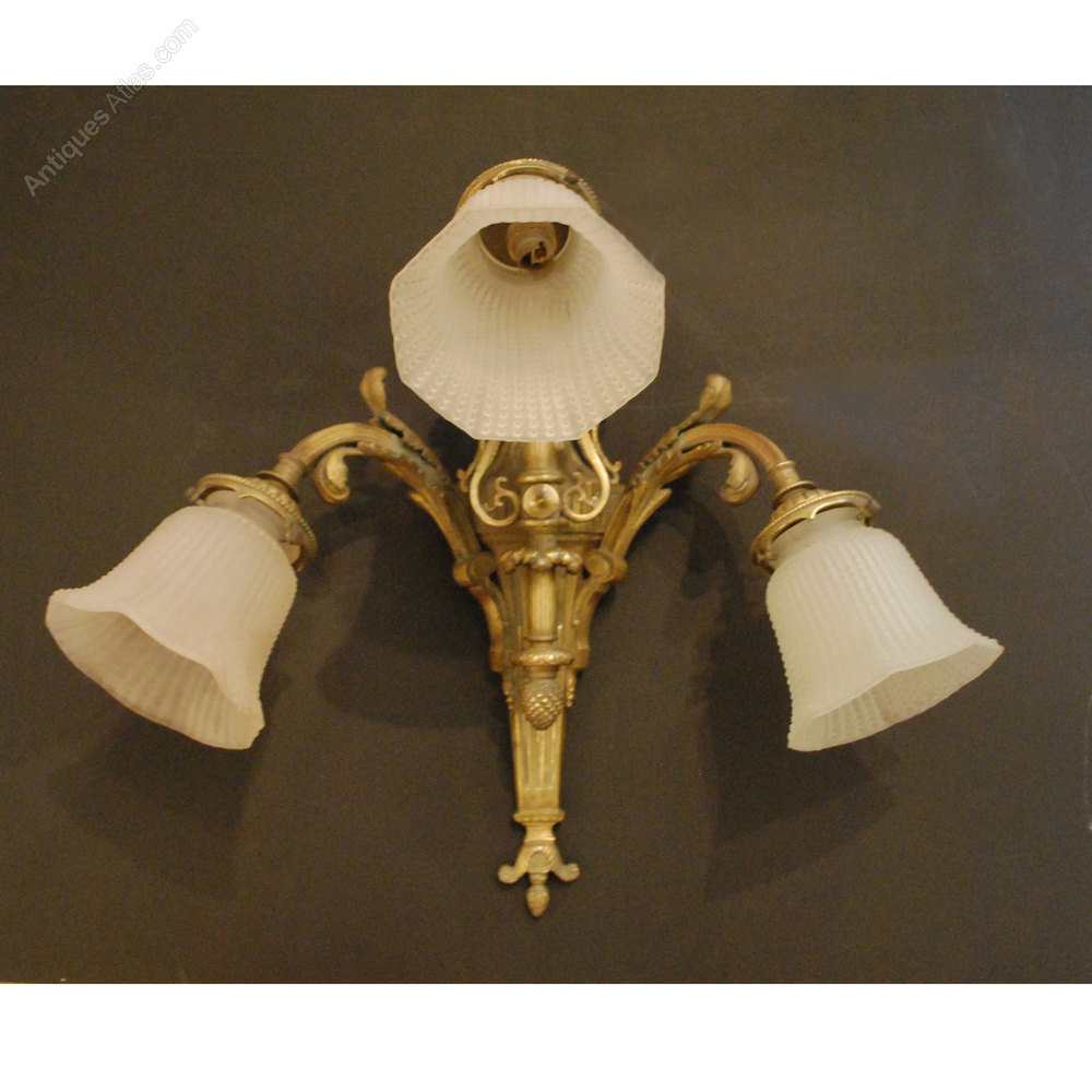 Antiques Atlas - Antique French Triple Wall Light