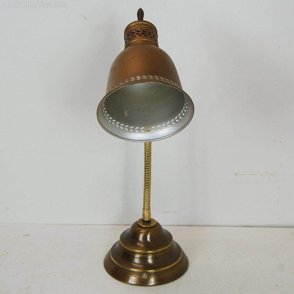 Antiques Atlas Antique Brass Student Desk Lamp