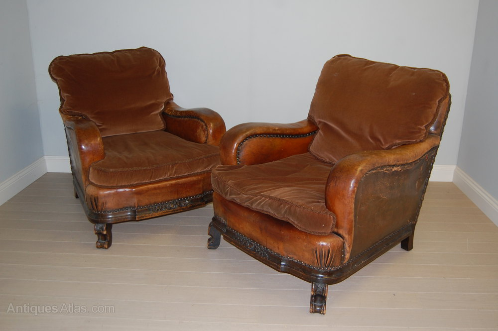 Antique leather 3 piece suite sofa and armchairs for Furniture 3 piece suites