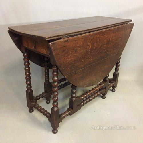 C17th Oak Gate Leg Table Antiques Atlas