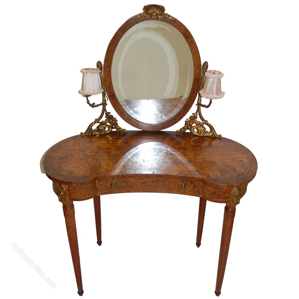 Antique dressing table with mirror - French Antique Dressing Table With Original Mirror Antique Dressing Tables