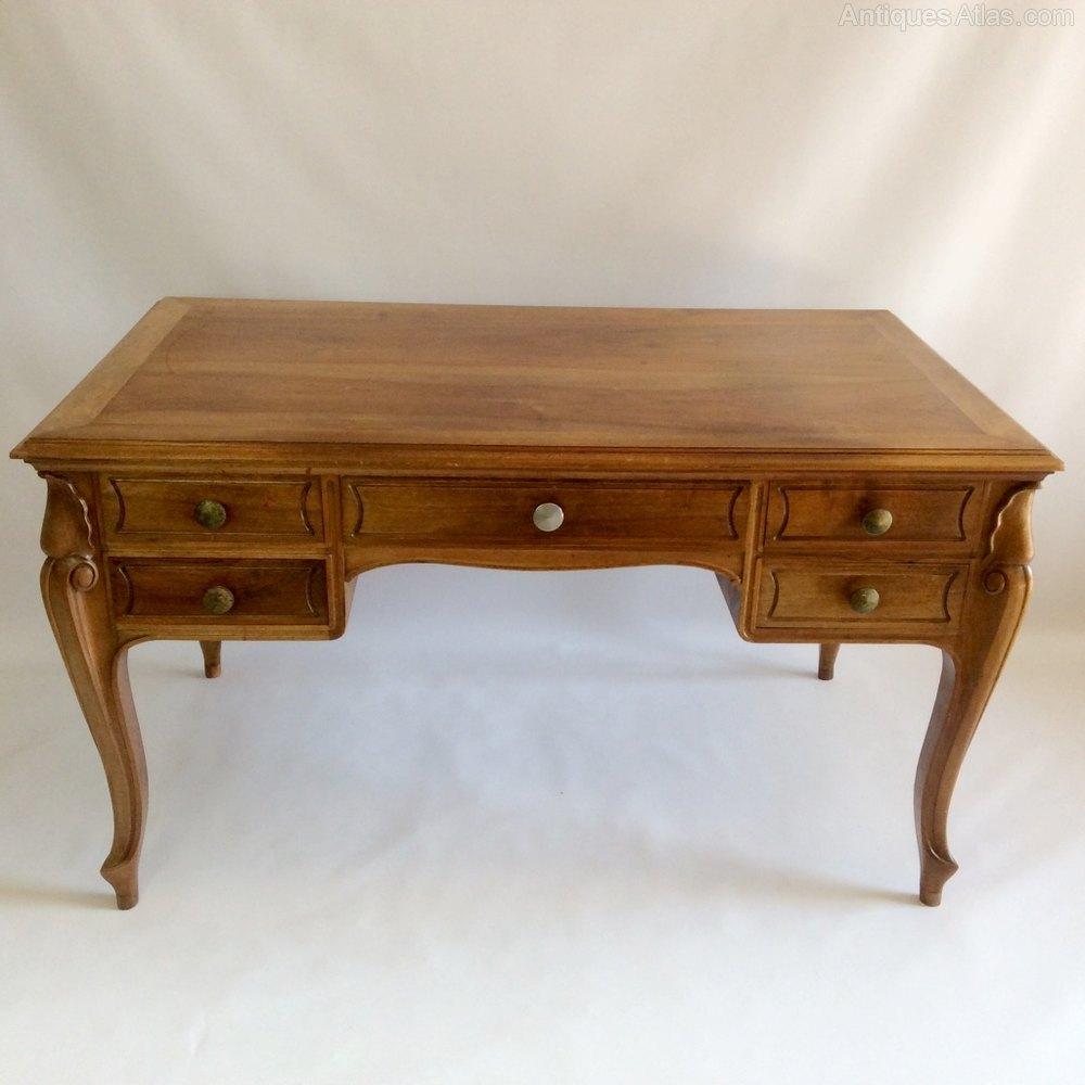 French cherry bureau plat dressing table antiques atlas for Bureau french