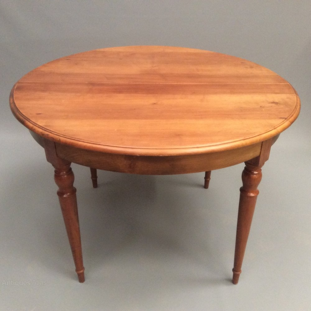 Wood Round Dining Table: French Cherry Wood Round Kitchen Dining Table