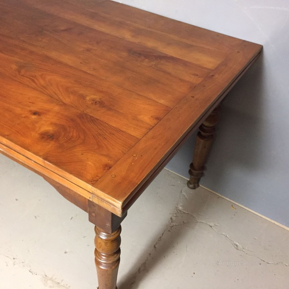 French Extending Drawer Leaf Cherry Table Antiques Atlas