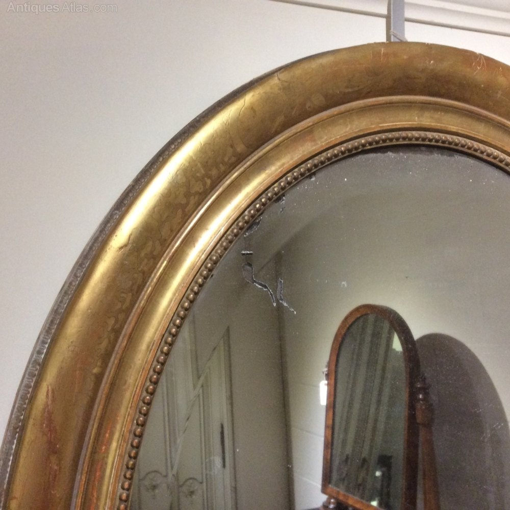 Antiques atlas french gilt oval mirror for What is a gilt mirror