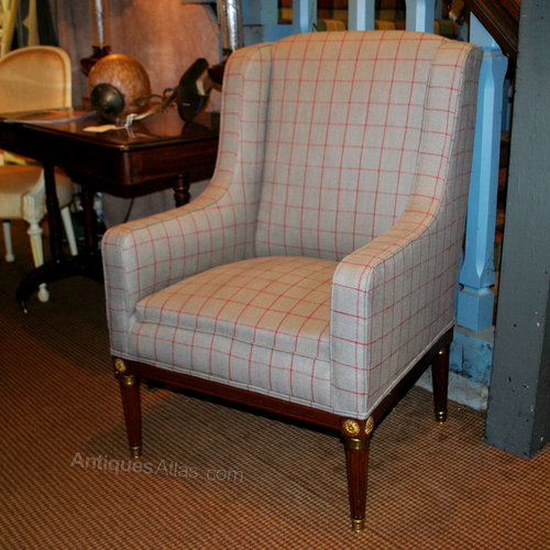 French High Back Wing Chair