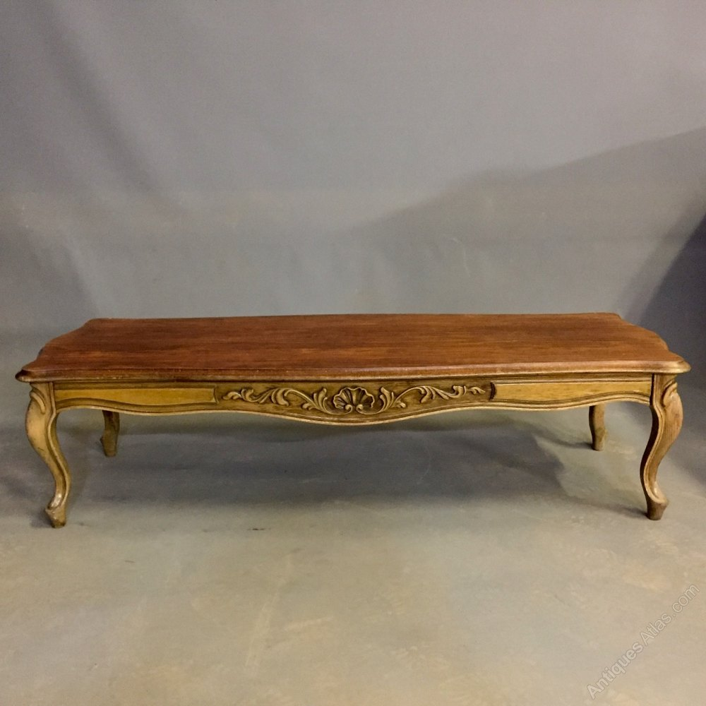 French Louis Xv Style Long Coffee Table Antiques Atlas