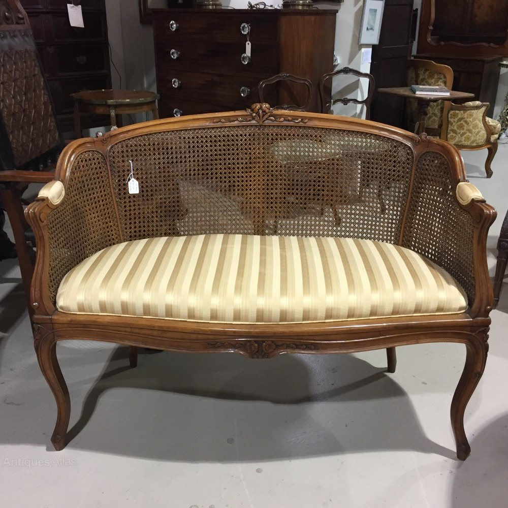 french walnut and cane canape sofa antiques atlas. Black Bedroom Furniture Sets. Home Design Ideas