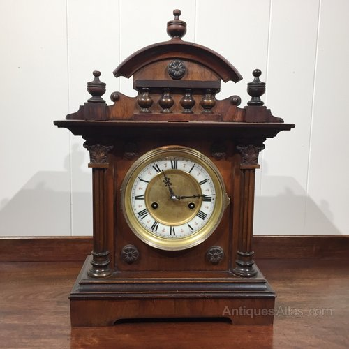Antiques Atlas - German Mantle Clock By HAC