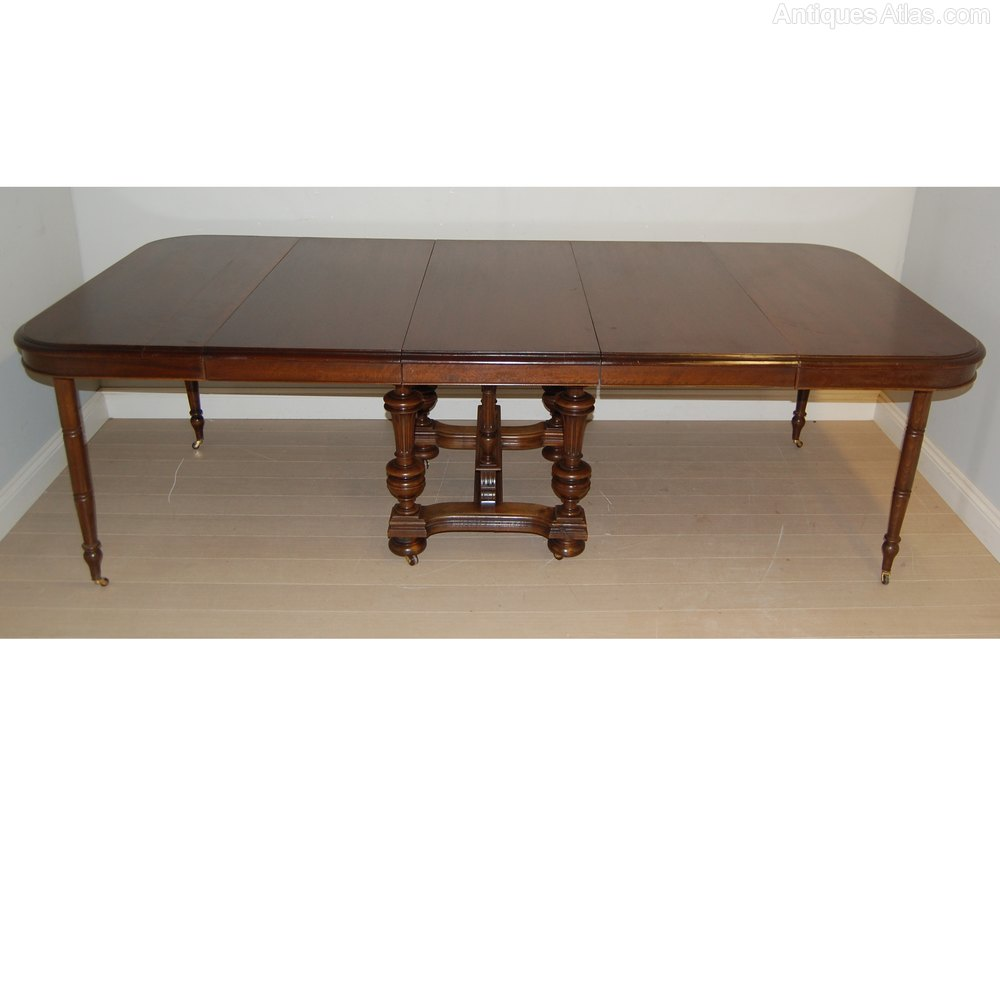 Henri ii extendable dining table c1880 antiques atlas for Extendable dining table