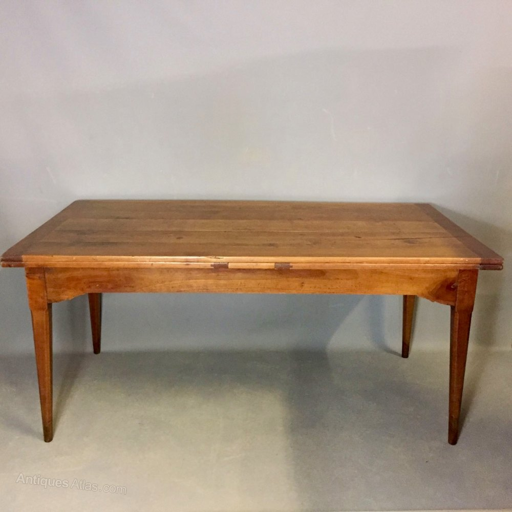 Large French Extending Cherry Wood Table 12 Seater