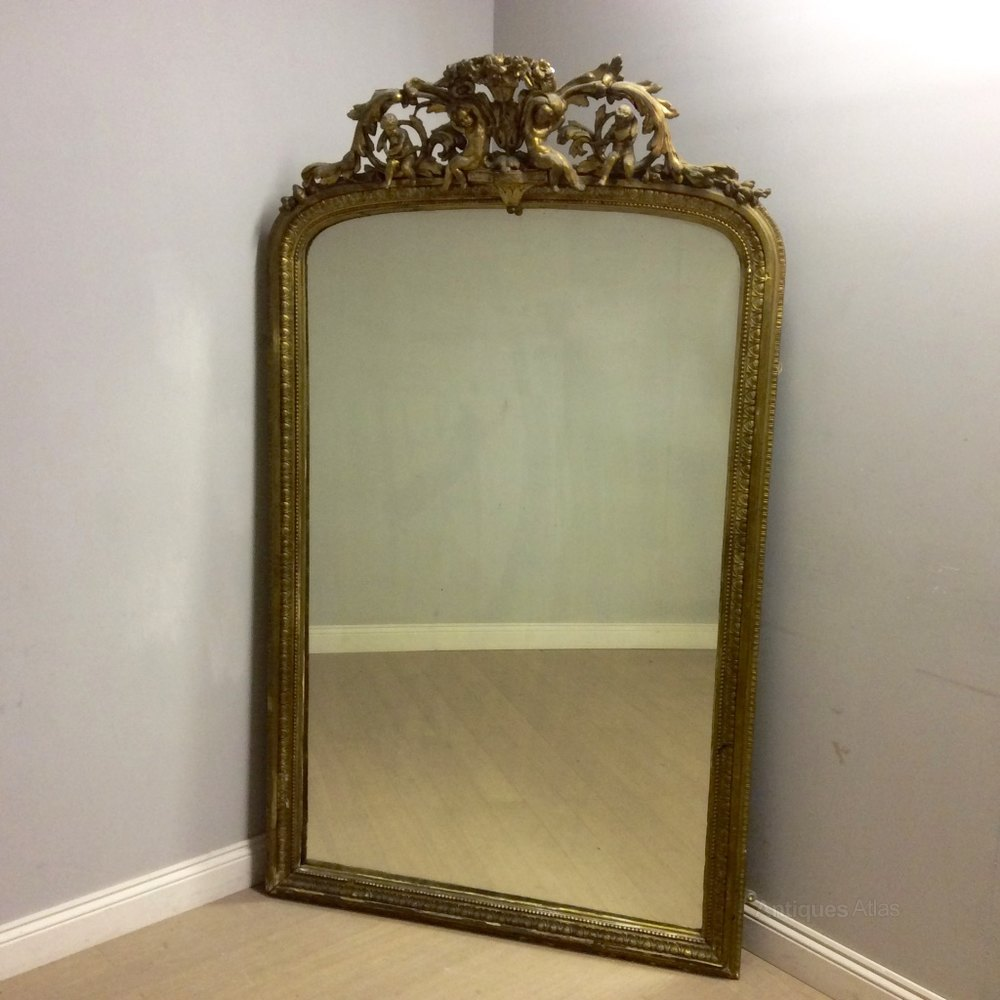 Antiques atlas large french gilt overmantle mirror for Mirror o mirror