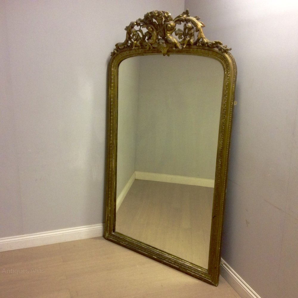 Antiques Atlas Large French Gilt Overmantle Mirror
