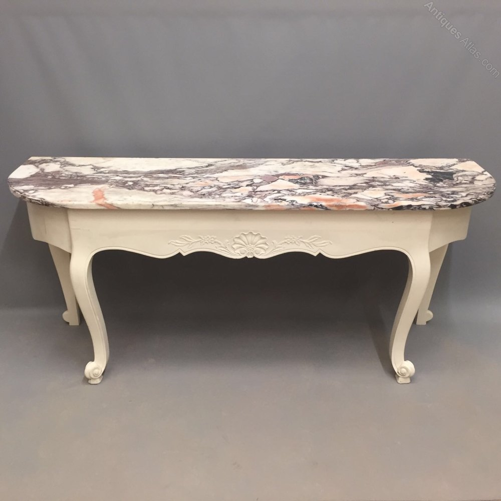 Large french painted console table antiques atlas for Sofa table large
