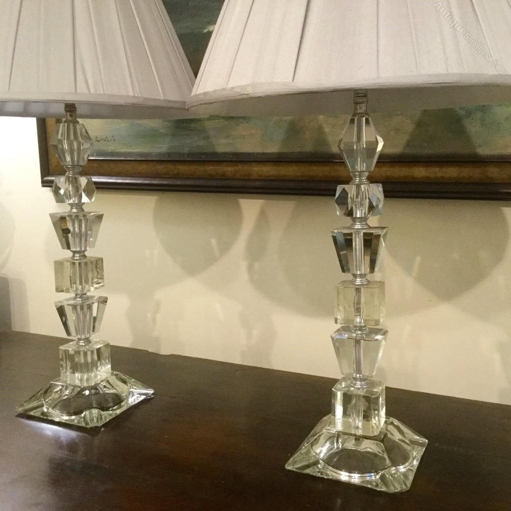 Antiques Atlas Pair Of Cut Crystal Table Lamps