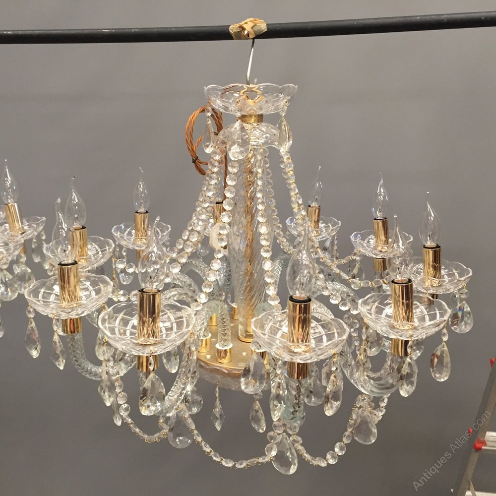 Stunning Pair Of Glass And Crystal Chandeliers Antique Chandeliers