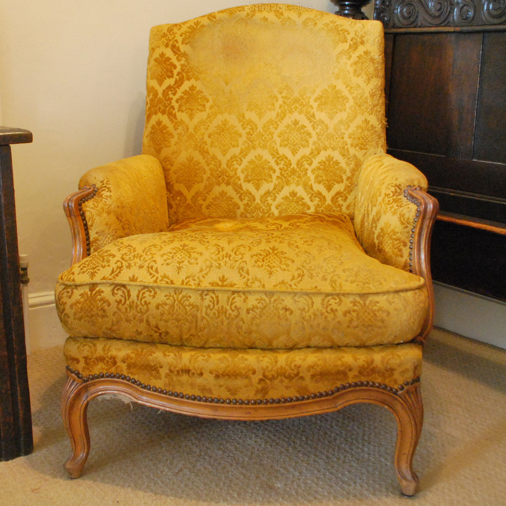 Pair of large french armchairs louis xv style and