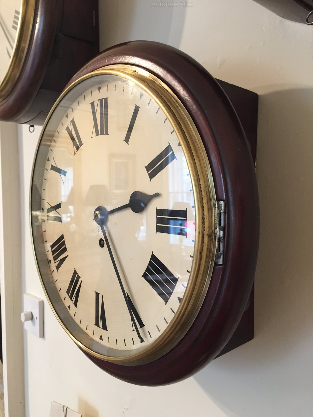 Antiques Atlas Rare Gpo 7 Day Fusee Wall Clock