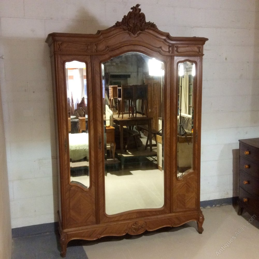 Rare Full Hanging Depth Armoire Wardrobe Antiques Atlas