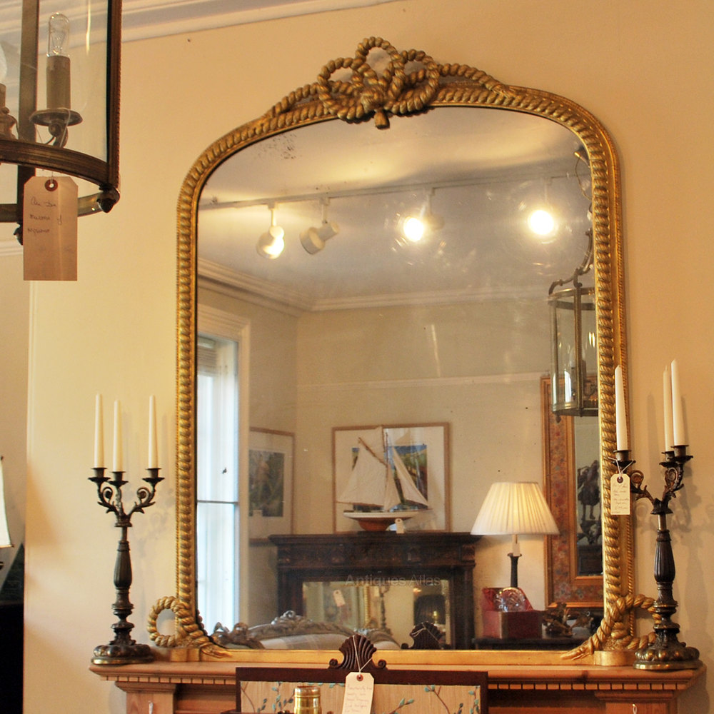 Antiques Atlas Quot Rope Twist Quot Gilt Over Mantle Mirror