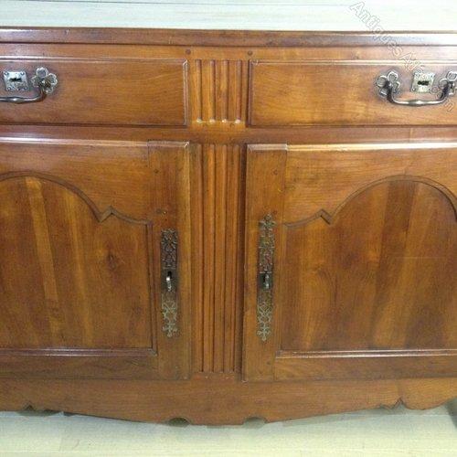 Solid cherry wood door buffet c antiques atlas