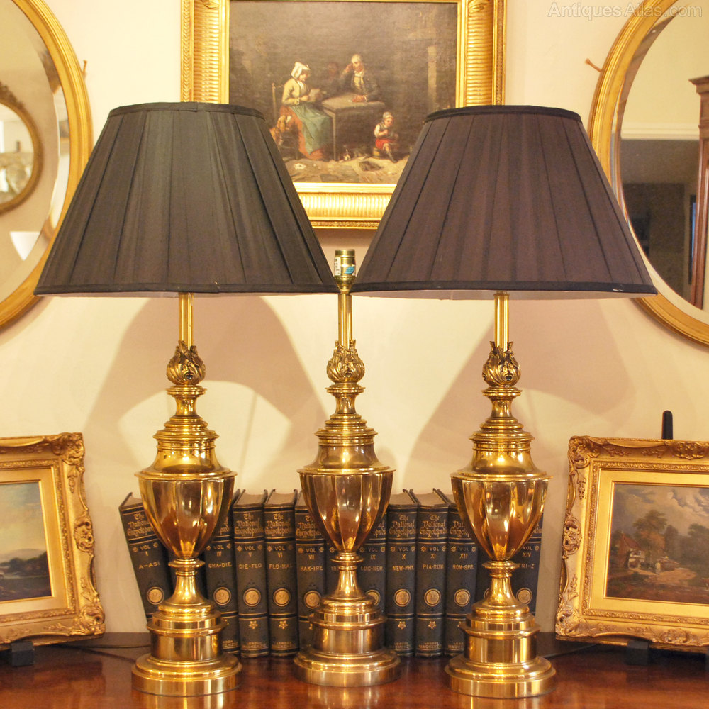 Antiques Atlas Set Of 3 Stiffel Brass Table Lamps