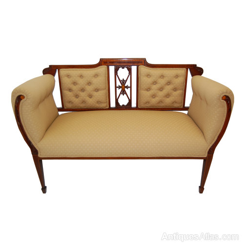 Sheraton style two seat sofa antiques atlas Antique loveseat styles