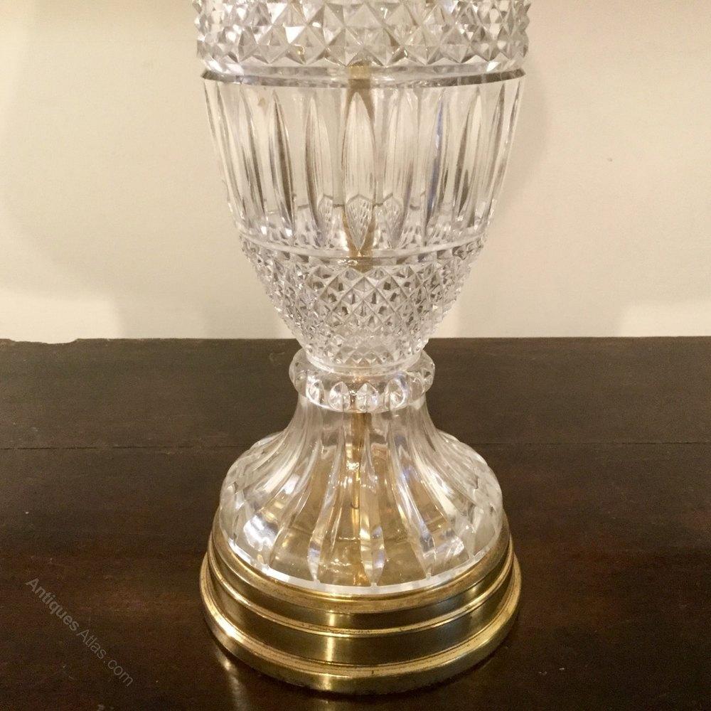 Antiques Atlas - Single Cut Glass Table Lamp:... cut glass table lamp,Lighting