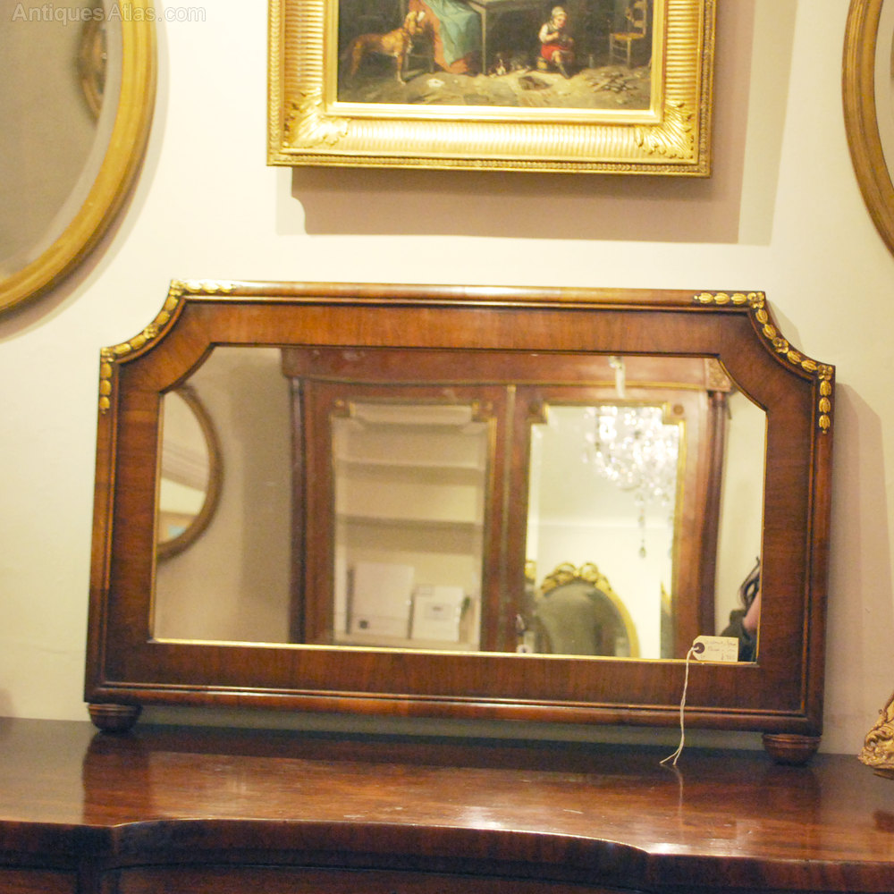 Antiques atlas walnut over mantle mirror c1920 39 s for Mantle mirror