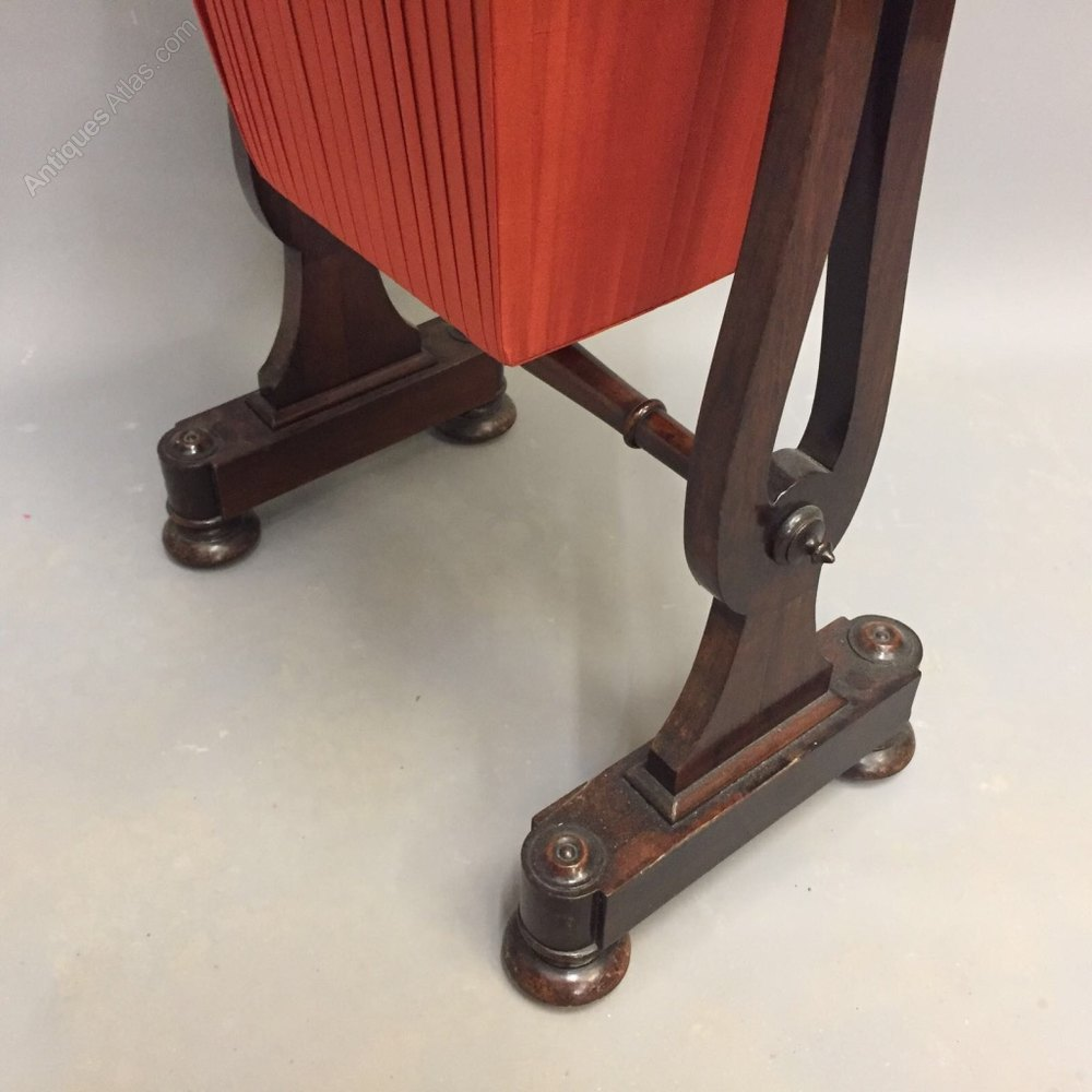 William Iv Rosewood Sewing Table Antiques Atlas
