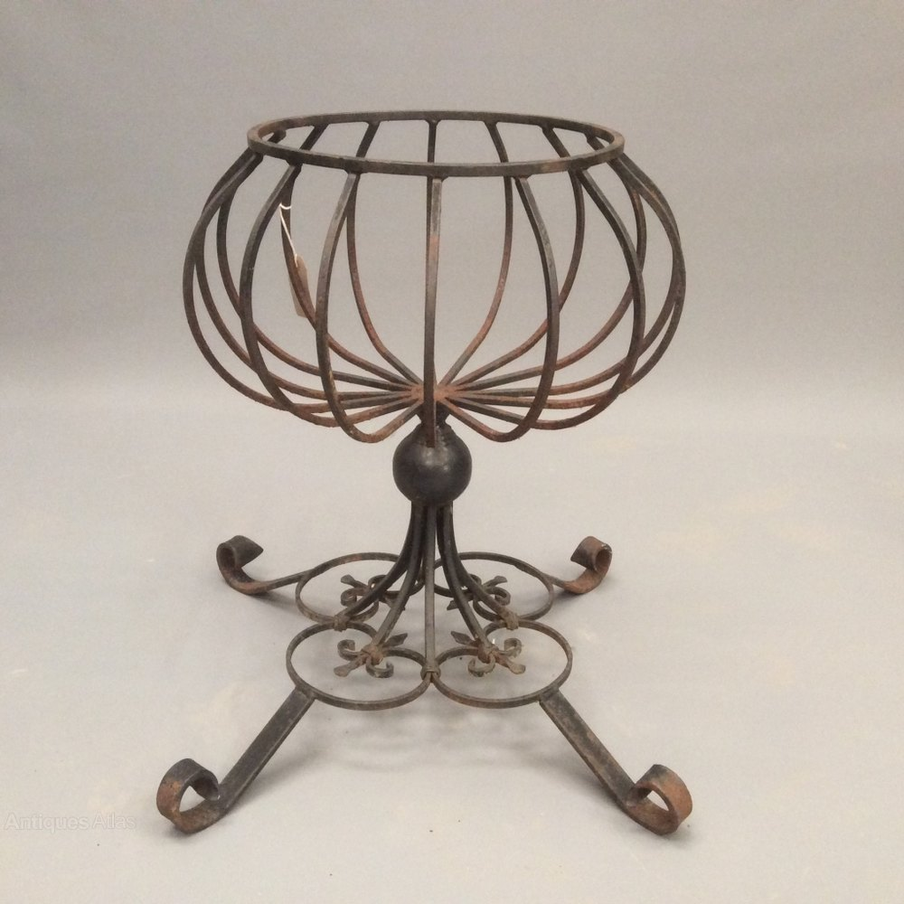 antiques atlas wrought iron plant stand. Black Bedroom Furniture Sets. Home Design Ideas