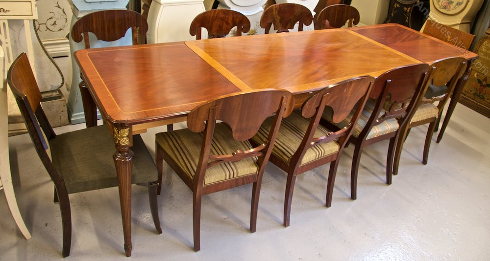 256cm biedermeier style dining table antiques atlas for Best quality dining tables