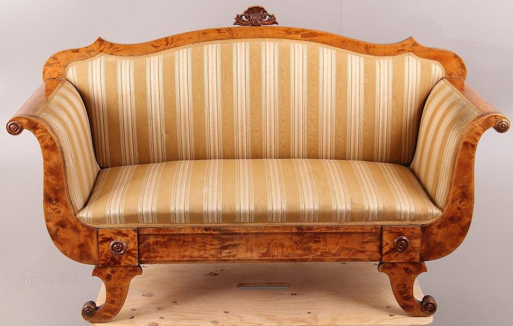 Carved swedish antique biedermeier sofa antiques atlas for Antikes sofa gebraucht