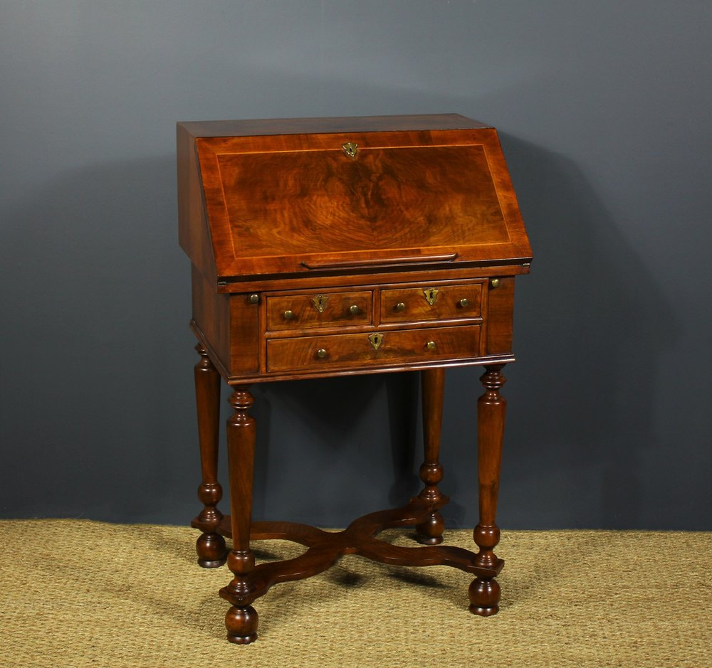 William Mary Style Walnut Bureau Antiques Atlas