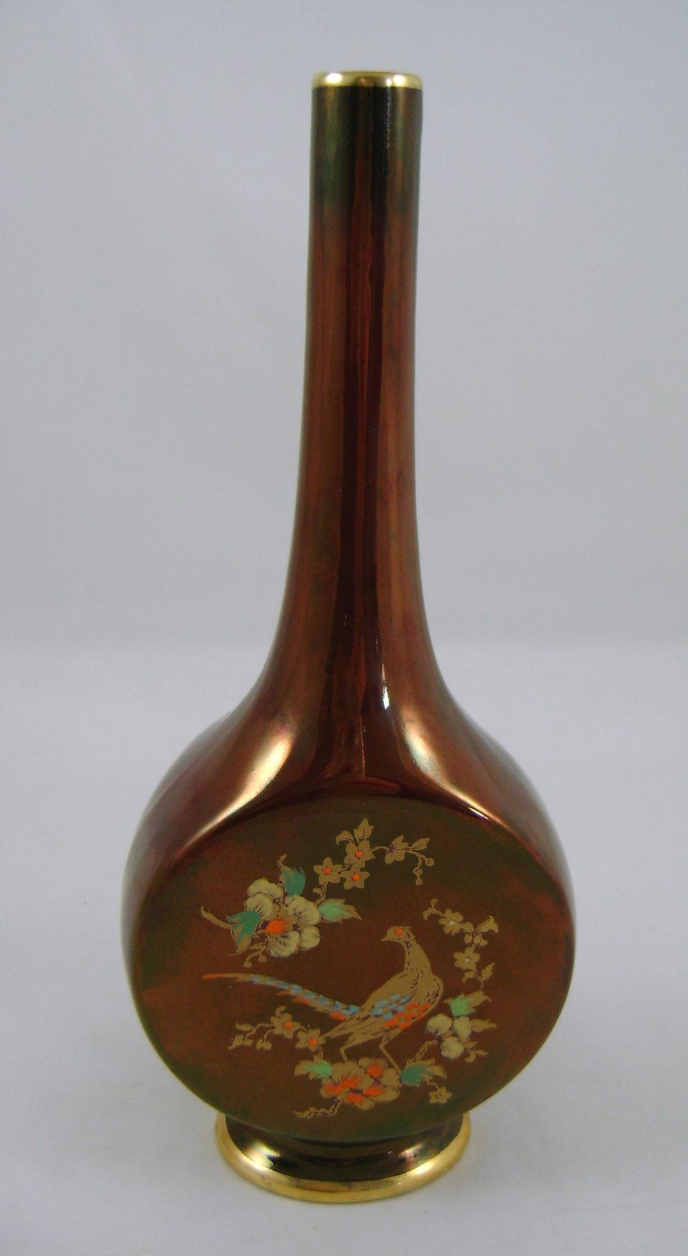 antiques atlas carlton ware rouge vase pheasant design. Black Bedroom Furniture Sets. Home Design Ideas