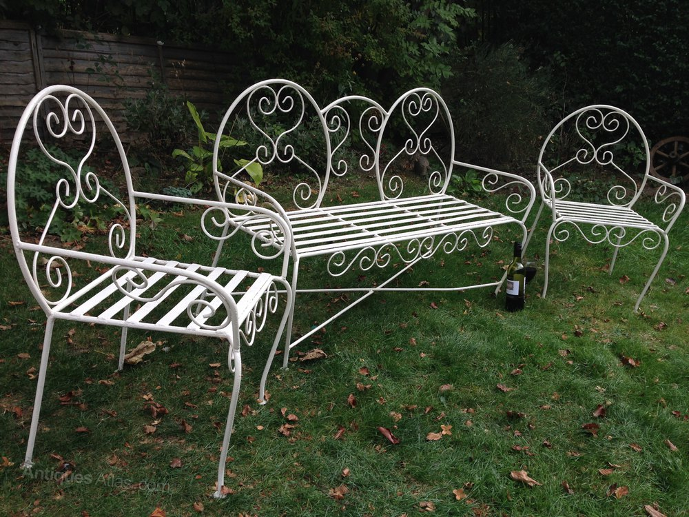 Antiques atlas antique french iron garden furniture set French metal garden furniture