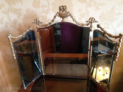 Bevelled Tri Fold Mirror Antique Dressing Table Mirrors ...