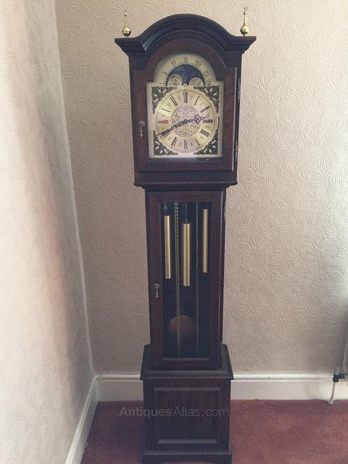 Antiques Atlas - Oak Cased Grandmother Clock