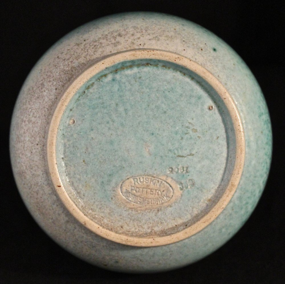 Antiques atlas ruskin pottery high fired vase west for Arts and crafts pottery makers