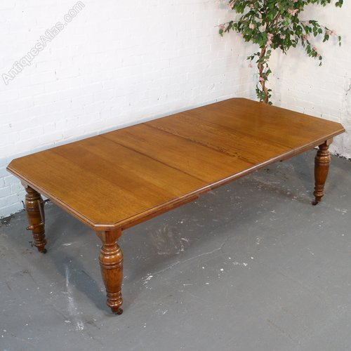 8ft victorian oak extending dining table seats 10
