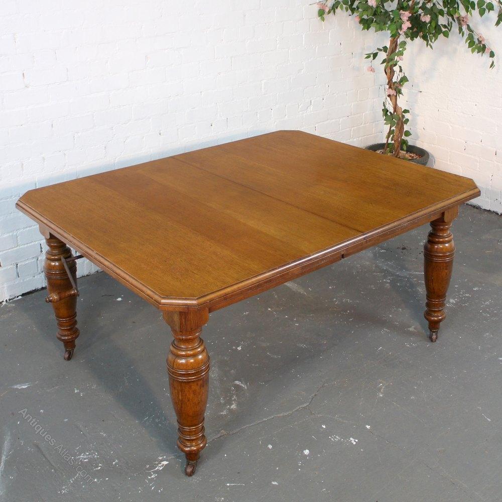 8ft victorian oak extending dining table seats 10 antiques atlas. Black Bedroom Furniture Sets. Home Design Ideas