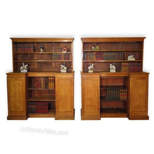 Antique Pair Of Arts Crafts Oak Bookcases Antiques Atlas