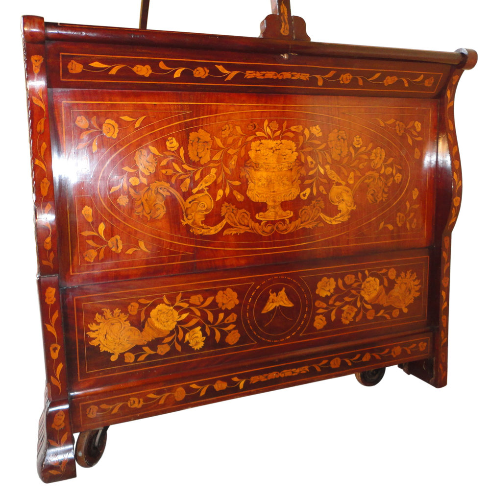 dutch walnut and floral marquetry canopy bed antiques atlas