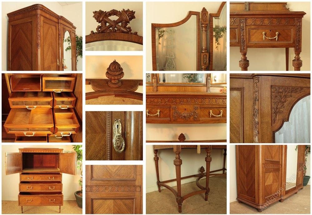 Super gillows carved walnut bedroom suite antiques atlas