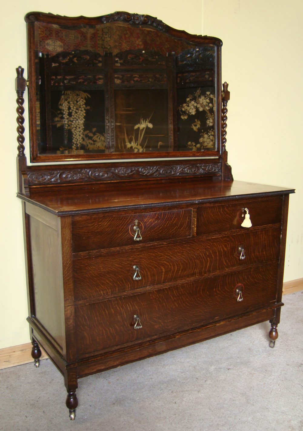 Jacobean style oak bedroom suite antiques atlas for Looking bedroom furniture