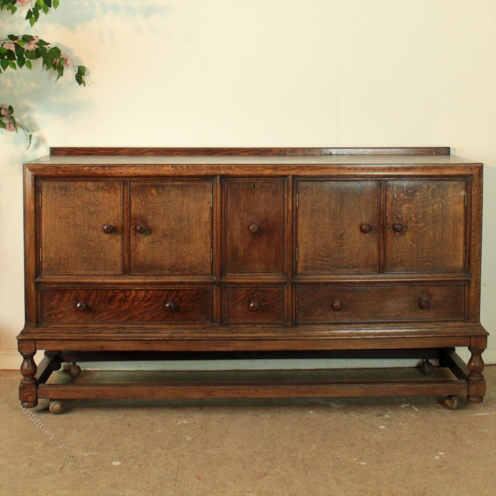 Large heals oak sideboard antiques atlas for Vintage furniture dealers