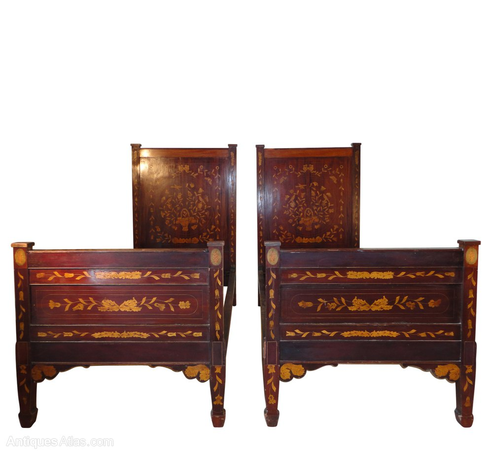 Pair Of 19th Century Dutch Marquetry Single Beds Antiques Atlas